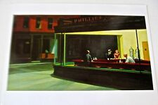Edward Hopper Poster NIGHTHAWKS Offset Lithograph Unsigned 14x11
