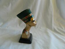 "Egyptian Queen Nefertiti Small Plaster Statue Hand Painted 5.75"" High  Sale"