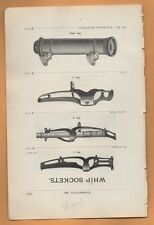 1898 ad advertising WHIP SOCKET  Buggy wagon carriage antique  horse whip holder
