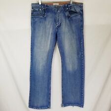 Mens Emporio Armani Loose Fit Distressed Jeans Size 36 Cotton W38 L33