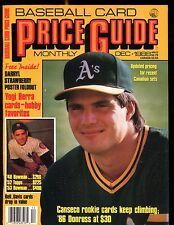 SCD Baseball Card Price Guide December 1988 Jose Canseco EX No ML jhscd5