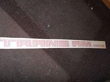 1970's 1980's PONTIAC FIREBIRD TRANS AM TRANS-AM RED FENDER QUARTER TRUNK DECAL