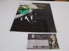 LADY GAGA MONSTER BALL TICKET AND WRIST BAND (GREEN) 2010