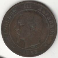 1853 MA France 10 Centimes | European Coins | Pennies2Pounds