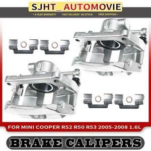 Left&Right Brake Caliper for Mini Cooper R52 R50 R53 2005-2008 Front w/ Bracket