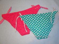 NEW 2 Lot Aeropostale Bikini SwimSuit Bottoms Fuschia & White / Teal & White XS