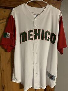 Authentic Team Mexico 2017 WBC World Baseball Classic Jersey White Size 44 L