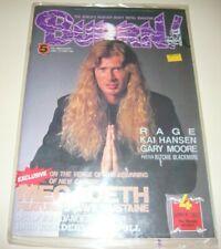 BURRN! 4/90 Japan Magazine Megadeth D*A*D Gary Moore Vain Danger Danger