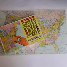 United States Map Puzzle Rand McNally Vintage 1965 Selchow Righter No 519 Usa