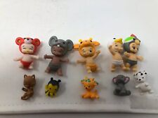 Twosies Lot Of 5 Babies And 5 Animals Toy Lot #1