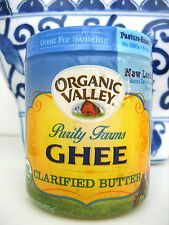 GHEE CLARIFIED BUTTER, Purity Farms Organic Valley, LACTOSE & CASEIN & SALT FREE