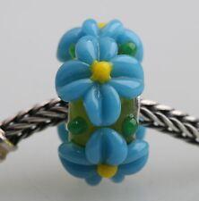 1pcs Big Flowers MURANO GLASS BEAD LAMPWORK Fit European Charm Bracelet