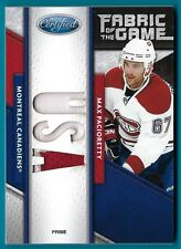 Max Pacioretty - 2011/12 Certified Fabric of the Game USA #'d 5/5 - Card #76