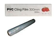Catering Cling Film 1 Roll 450mm x 300m Kitchen Chef Food Film Clear New