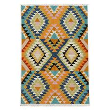 Afghan Multi-color Kilim Rug Hand Woven 4'x6' Wool Floor Carpet Kelim 120x180 CM