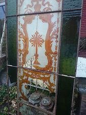 antik Jugendstil Kirchenfenster von 1898 Eisen Rundbogen Baron von Hye