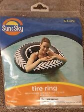 4x TIRE RING - Quantity 4 - Inflatable Pool Float Raft - Tube - Assorted Colors