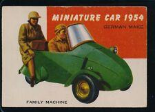 1955 TOPPS WORLD ON WHEELS MINIATURE CAR-GERMAN MAKE-1954   EX  #165 (RED BACK)