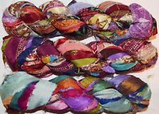 FREE S&H 3 for $27 Sari Chiffon Blend2 multi craft ribbon yarn, jewelry making