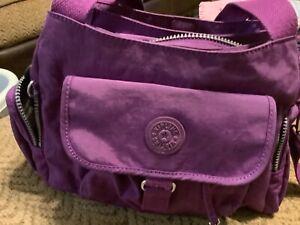 Kipling Crossbody Bag, Purple - Good condition lots of pockets