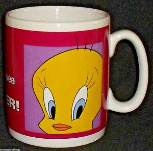 """Tweety Mug Cup Warner Bros Store Exc Vtg 1998 Giant Jumbo Large 5"""""""