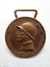MEDAGLIA COMMEMORATIVA GUERRA ITALO-AUSTRIACA 1915-1918 -UNITA' D'ITALIA