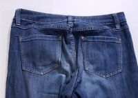 "LC Lauren Conrad Womens Jeans Size 8 Actual 32""x27"" Skinny Fit Dark Wash"