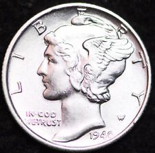 1940-S AU MERCURY DIME / SAN FRANCISCO MINT ALMOST UNCIRCULATED 90% SILVER COIN
