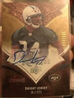 Dwight Lowery 2008 Upper Deck Icons-NFL Rookies Auto /135🔥Jets🔥
