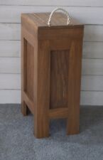 Wood Trash Can, Kitchen Garbage Can,Rustic Wood Trash Bin,Colonial Pine w/Rope