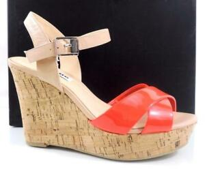 Women's Dune London Kingdom Cross Vamp Wedge Sandals Pink / Nude Patent Size 7