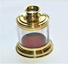 EXCELLENT CONDITION VINTAGE MICROSCOPE MAGNIFYING GLASS LIVE BOX. 56 mm TALL