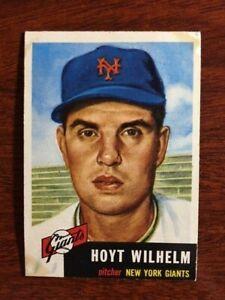1953 Topps #151 Hoyt Wilhelm HOF VG/EX