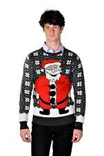 RWB Happy Santa Ugly Christmas Sweater SLIM FIT