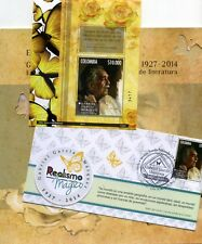 BUTTERFLIES OF COLOMBIA ''carpeta''GARCIA MARQUEZ,- NOBEL ''SHEET-COVER F.D.C.