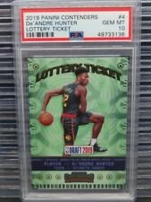 2019-20 Contenders De'Andre Hunter Lottery Ticket Rookie RC #4 PSA 10 (36) Y453