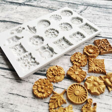Brooch Jewelry Silicone Cake Fondant Mold Cupcake Decor Chocolate Topper Mould
