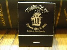 Time-Out Sports Bar & Grill Lake Of The Ozarks Missouri Vintage Used Matchbook
