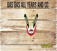 Gas gas ec 125 250 450 Frontal Guardabarros Gráficos Pegatina Kit-Calcomanías-Rojo-MX seis D