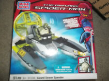NEW Mega Bloks (91338) Amazing Spiderman Lizard Sewer Speeder 91 Piece Set
