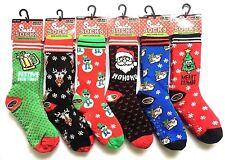 Men's Heat Machine Christmas Slipper Socks Fleece Lined Stocking Filler One Size