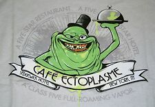 """Cafe Ectoplasme"" Ghostbusters Slimer Satire Women's XL Shirt Teefury"