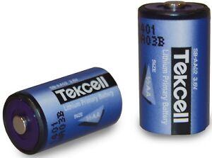 Lithium Batterie ER14250 3,6V Größe 1/2AA 1200mAh TEKCELL Einwegbatterie D/C2020