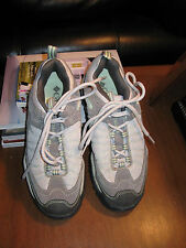 COLUMBIA Trail Meister IV Hiking Walking Trail Shoes-Lt Gray/Lt Green-8M