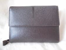COMME CA ISM Tri-Fold Brown Leather Wallet - New