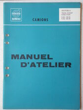 MANUEL D'ATELIER SECTION TRAIN AVANT DIRECTION CAMION VOLVO N86/NB86/N88/NB88