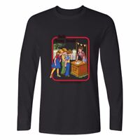 Men's Cotton Long Sleeve Casual Sell Your Soul Printed Crew Neck T-SHIRT Tops