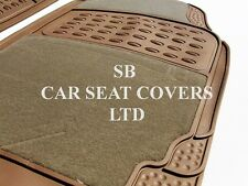 I-pour s'adapter mercedes slk voiture, deluxe tapis de sol, 2210 beige-ensemble 4 pièces