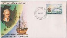 Stamp Norfolk Island 1st cross Antarctic Captain Cook on Seven Seas cachet FDC