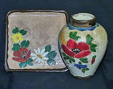 Scarce c1895 Jérôme Massier 1850-1916 Hand Made Incised Signed Floral Vase Tray